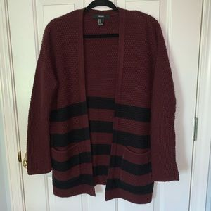 Forever 21 Striped Knit Cardigan